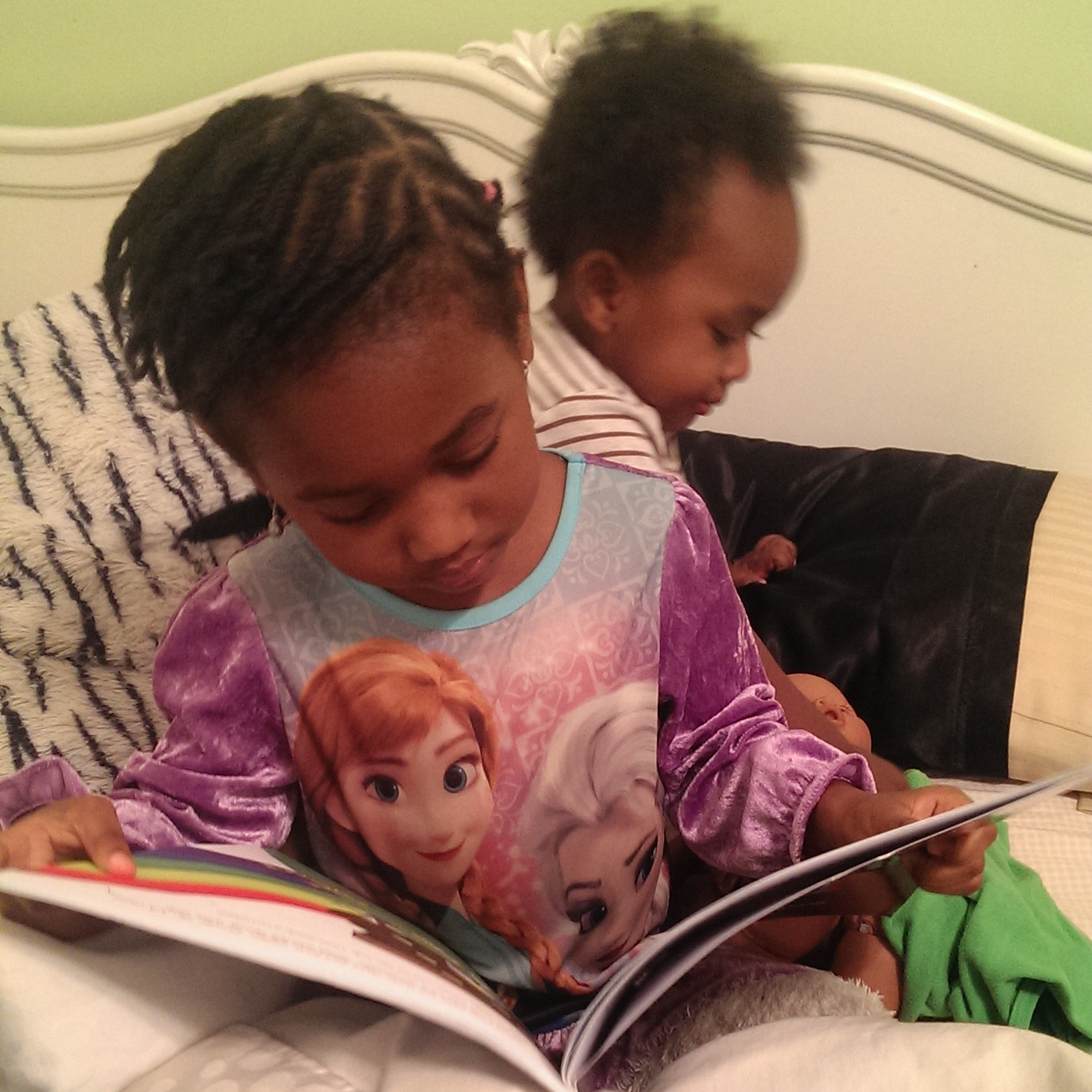 children reading Bible Characters for Advent book