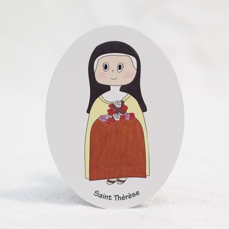 """Saint Thérèse - 3""""x4"""" magnet"""