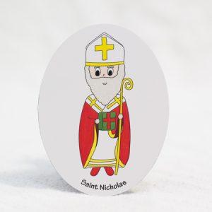 """Saint Nicholas - 3""""x4"""" magnet"""