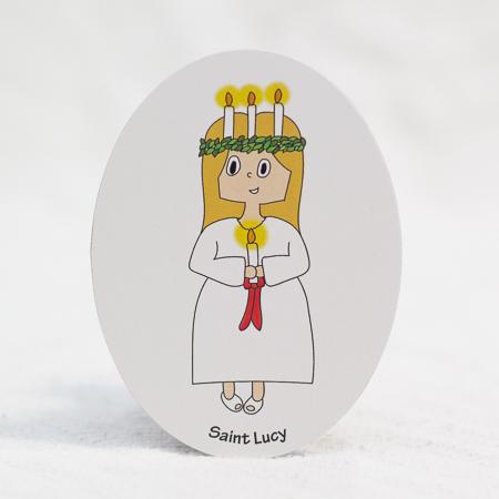 """Saint Lucy - 3""""x4"""" magnet"""