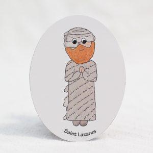 """Saint Lazarus - 3""""x4"""" magnet"""