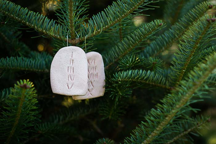Jesse Tree Ornament of 10 Commandments Tablets