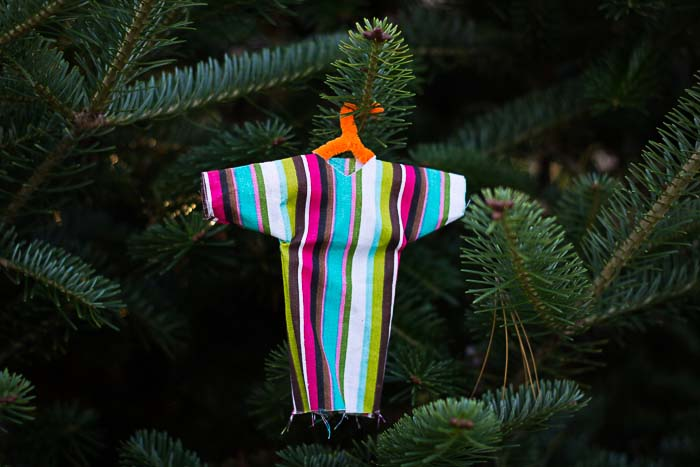 Jesse Tree Ornament of Joseph's coat of many colors