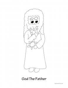 God the Father Coloring Sheet