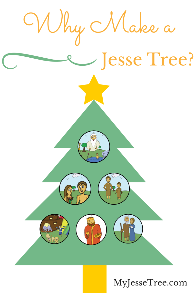 Jesse tree with ornaments