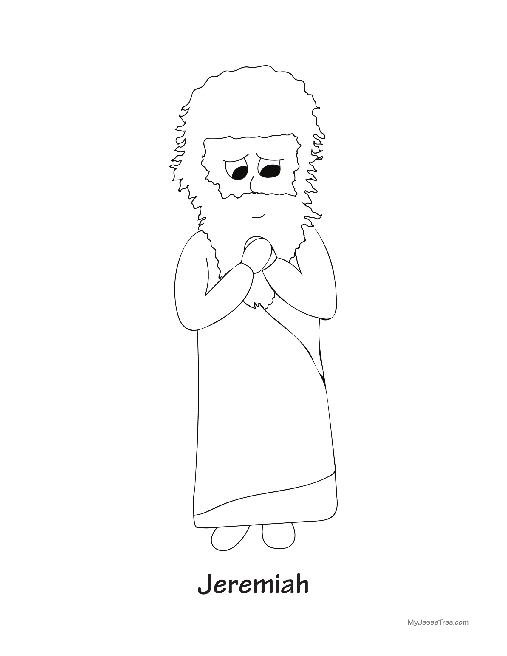 Jeremiah Coloring Sheet
