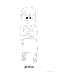 Joshua Coloring Sheet