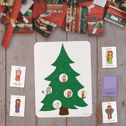 Evergreen Jesse Tree Magnet Set