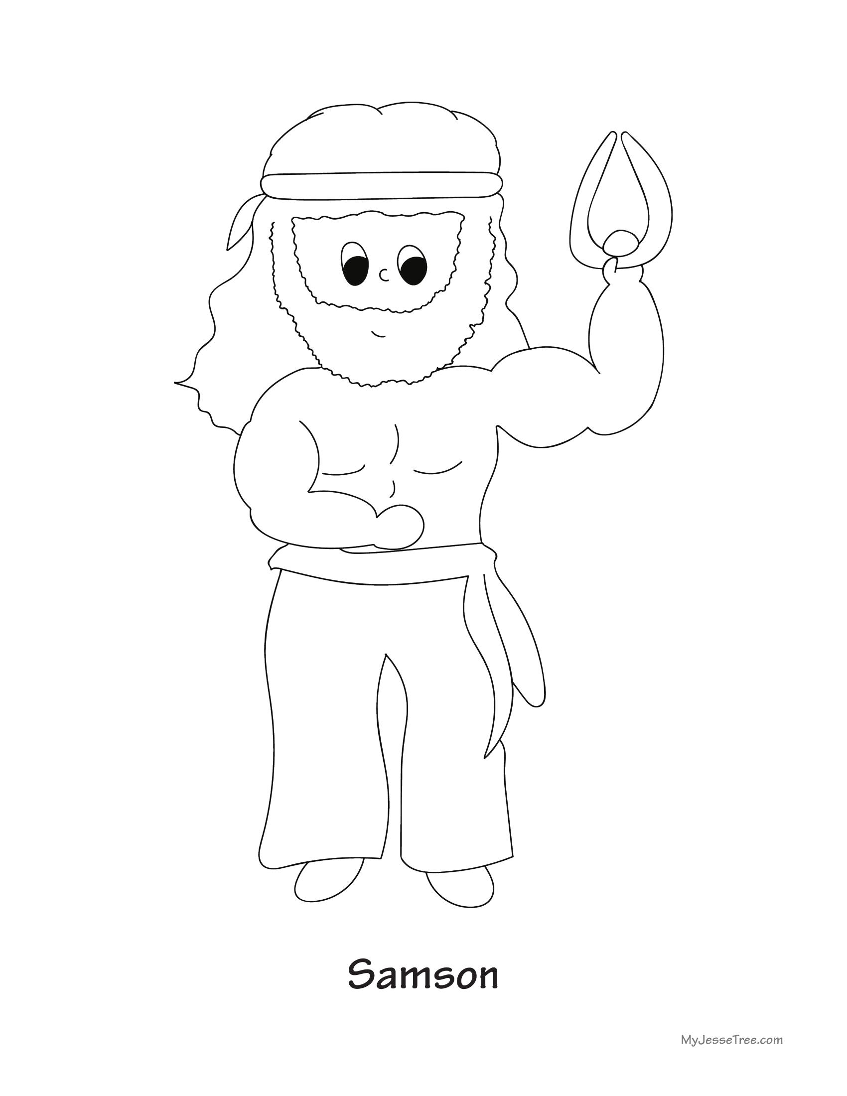 Samson Coloring Sheet