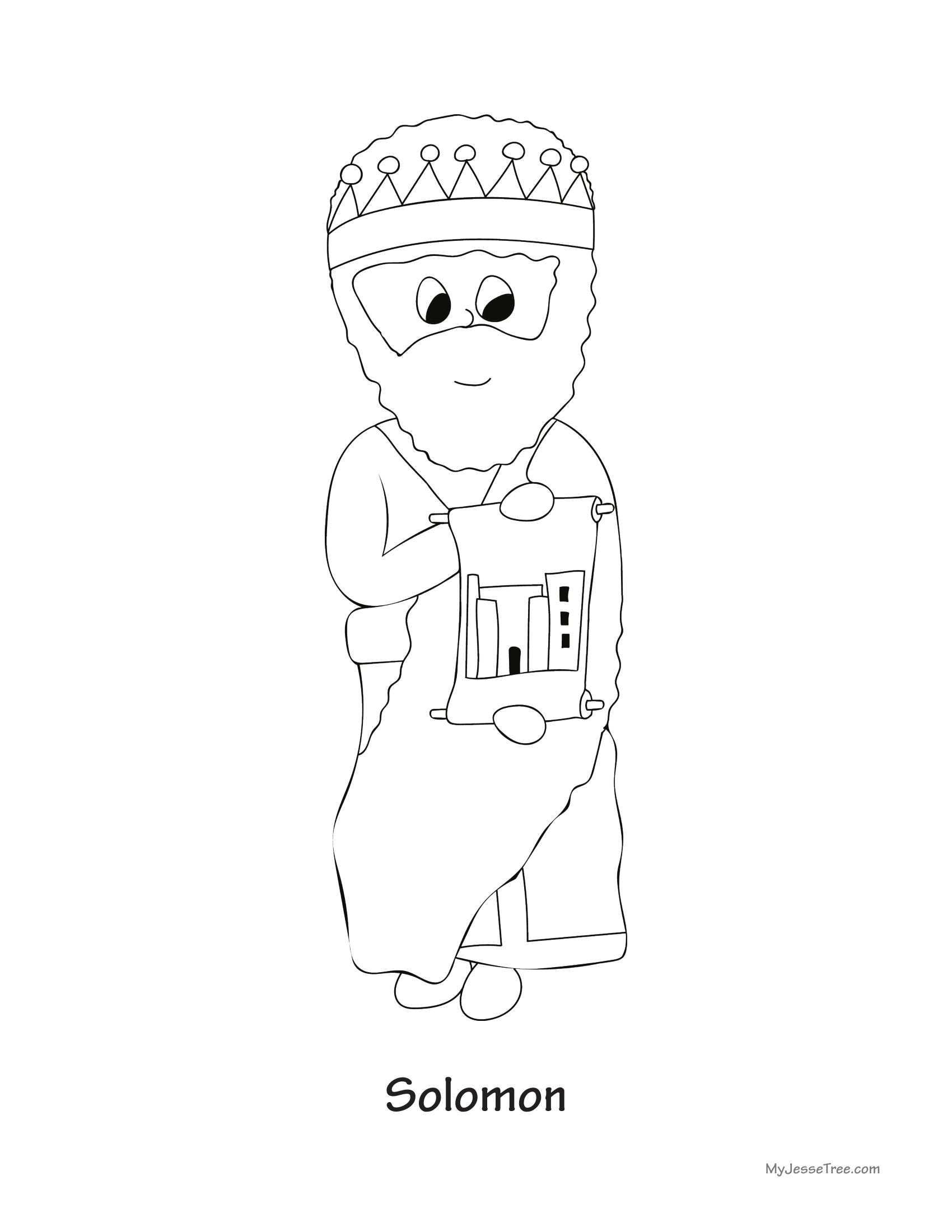 16 Solomon My Jesse Tree King Solomon Coloring Pages